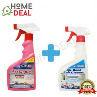 KLEENSO KITCHEN CLEANER 500ML & AIR-COND COIL CLEANER 500ML (Kleenso厨房清洁剂& 空调盘管清洗液)